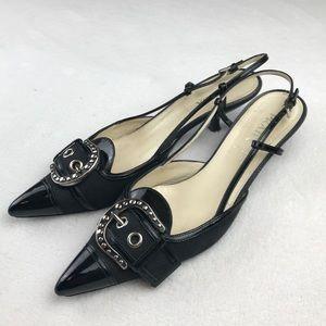 Prada retro vintage slingback kitten heels